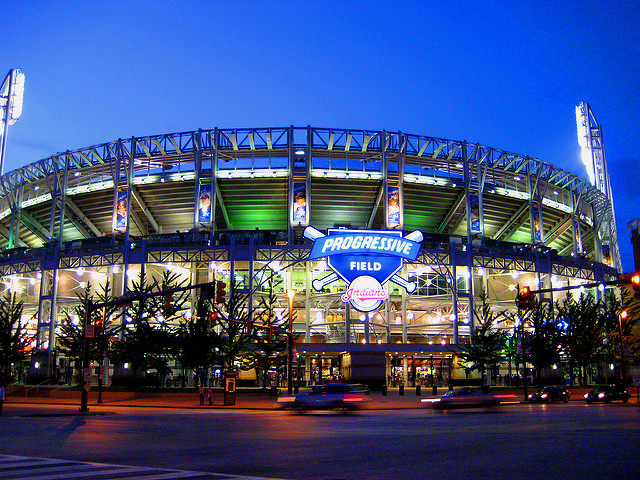 Progressive Field in downtown Cleveland