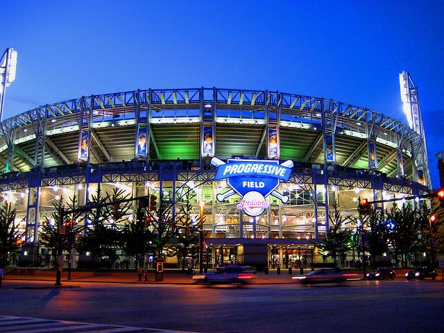 Progressive Field in downtown Cleveland